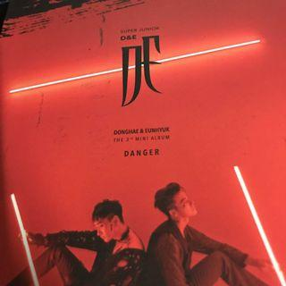 Super Junior-D&E The 3rd Mini Album DANGER Red Ver with Standee only
