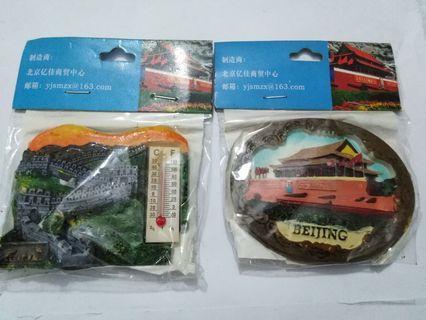 Fridge Magnets-2 pcs-souvenirs from China, Beijing