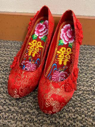 中式褂鞋連鞋墊 36碼