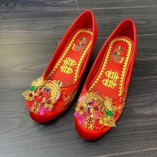 繡花褂鞋 送褂鞋夾&鞋墊 39碼