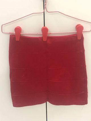 Red Bandage Skirt