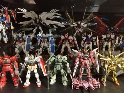 Gundam RG Bandai real grade near complete set built