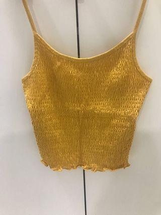 Bershka Mustard Yellow Top