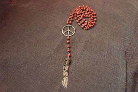 🚚 Peace Sign Necklace with tassel