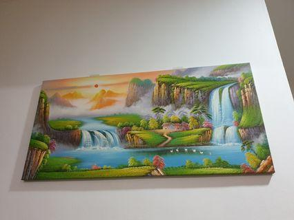 Oil Painting shan shui hua