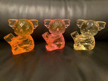 冒險樂園 樹熊 水晶擺設(大水晶)