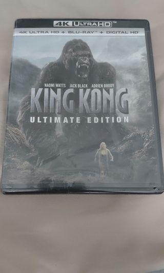 King Kong Ultimate Edition 4K UHD Blu-ray (SEAL). US Edition. 4K Blu-ray+Blu-ray+Digital Copy.
