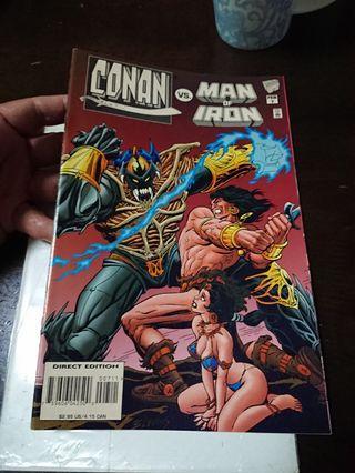 Conan vs Man of Iron (Conan V. 1 #7) 1996