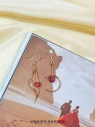 Red Pearl Earring