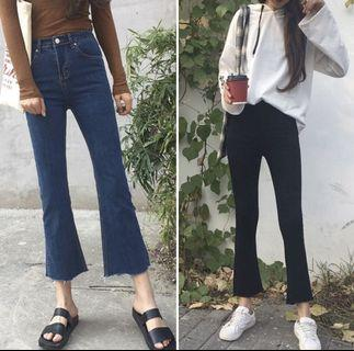 [PO] ulzzang high waisted wide legged jeans