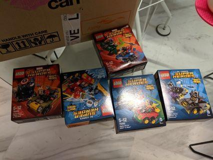 Lego dc super heroes mighty micro set of 5 ,76061 to ,5