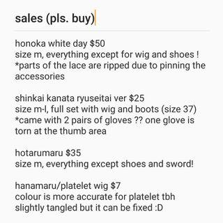 cosplay clearance