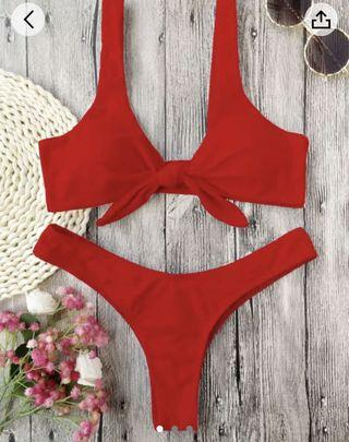 Red zaful bathing suit