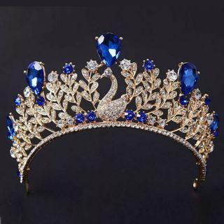 🆕新娘鳳凰藍色閃石皇冠 Wedding blue rhinestone Phoenix Crown