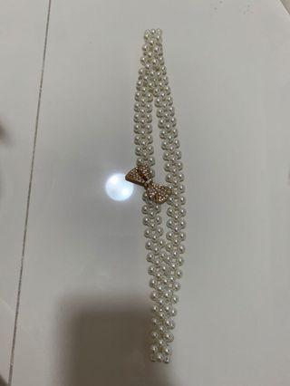 Pearl Necklace belt