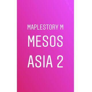 Asia 2 Maplestory M Meso