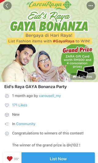 Winner of Eid Bonanza Party