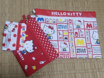 Hello Kitty 拉鍊袋 (一套3件)