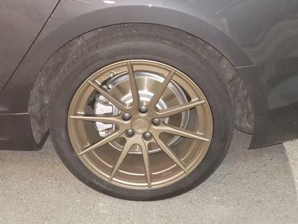 D2 Forged rims with tyres