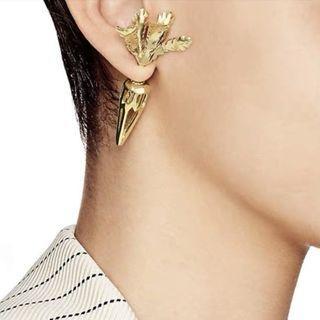 金色紅蘿蔔甘筍耳環 Golden carrot earrings