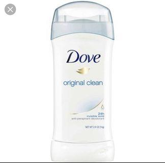 🚚 dove original clean solid deodorant