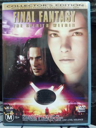 FINAL FANTASY THE SPIRIT WITHIN DVD