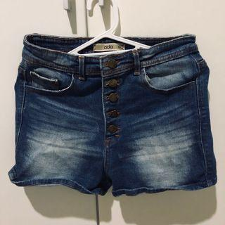 Short Denim Button