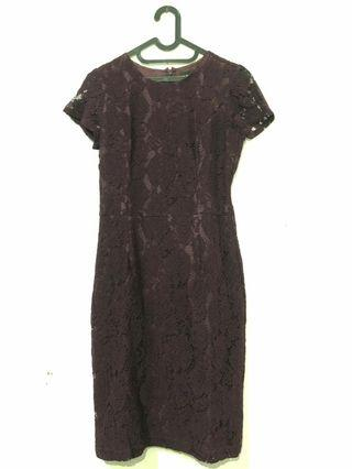 Dress Brokat Purple