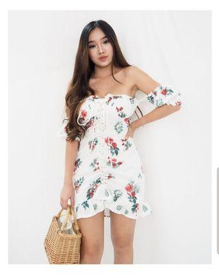 Sodelle Eleanor Floral Bustier Dress