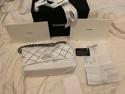 Chanel classic flag. Brand new. Full set with receipt.