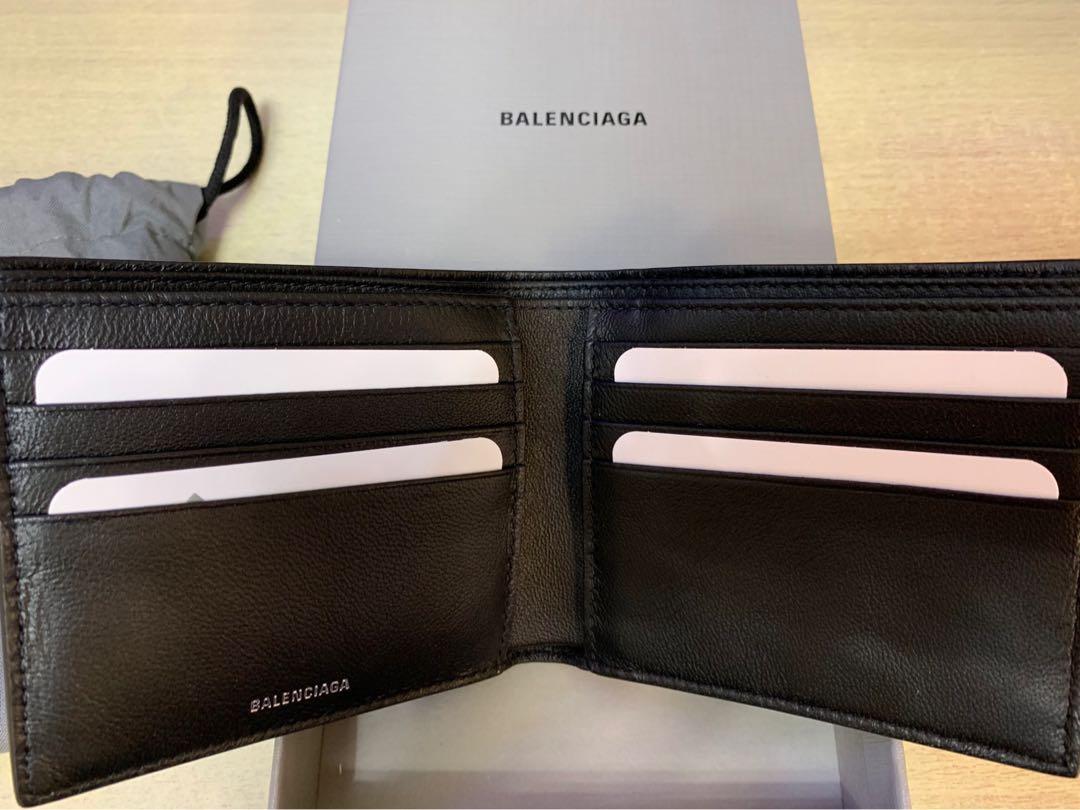 <25%off>巴黎世家Balenciaga wallet真皮硍包