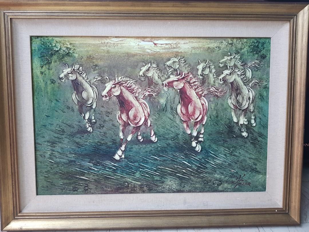 骏马图 Prosperous Horse Portrait Furniture Home Decor Antiques On Carousell