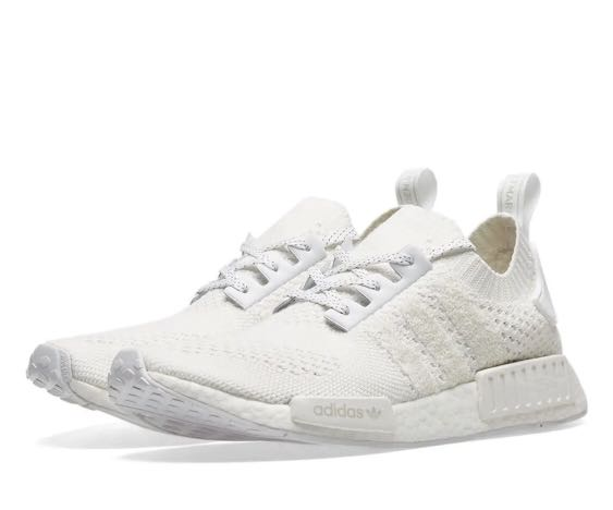 45597d76 Adidas NMD R1 PrimeKnit - White, Men's Fashion, Footwear, Sneakers on  Carousell