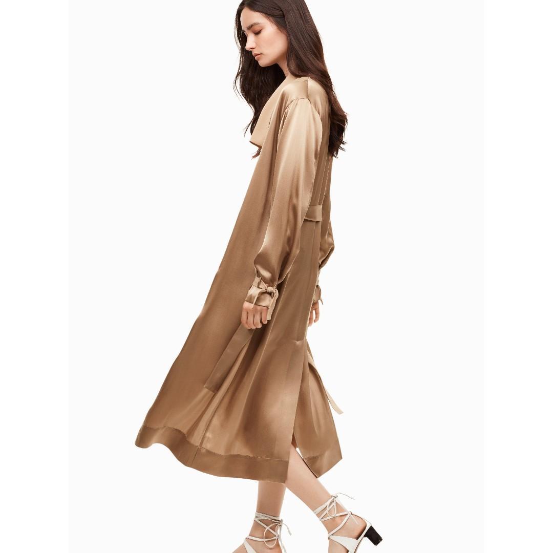 BLACK Aritzia Wilfred Le Fou silk Mercier Jacket XS