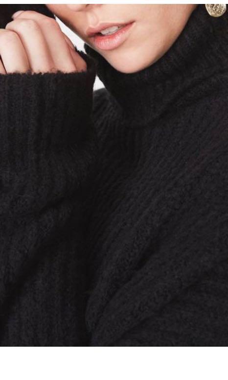 AS NEW BARDOT THICK WARM WINTER WOOL JUMPER DRESS 6 8