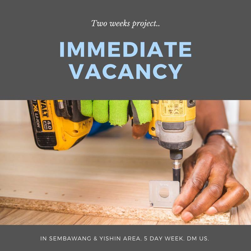 Assistant to Project Coordinator | Labourer | Mover