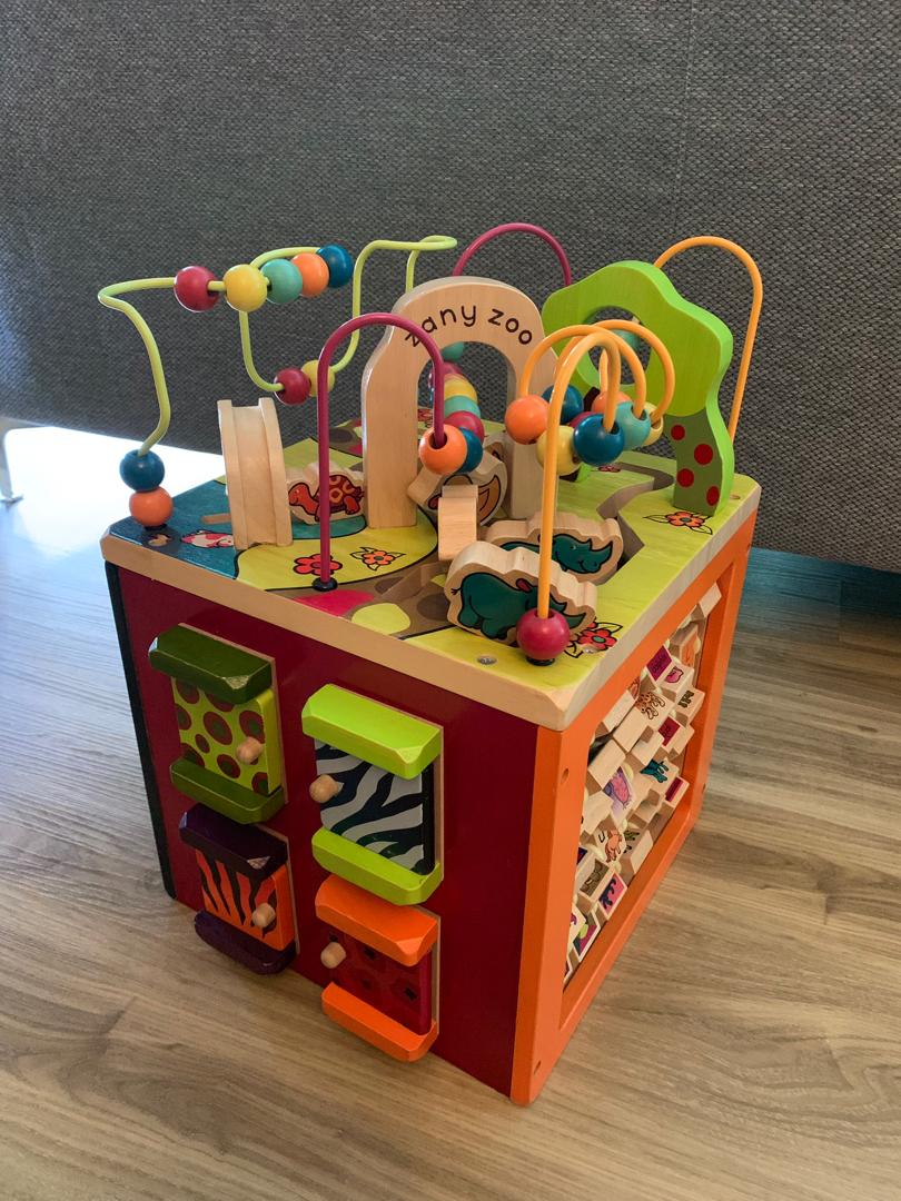b. zany zoo wooden activity cube