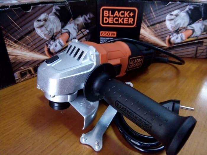 "BLACK DECKER 4"" 650W GERINDA GRINDER Gransi 1thn bkn Maktec Bosch"