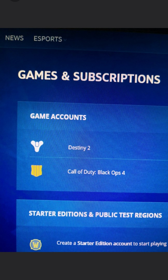Call Of Duty : Black Ops 4 Blizzard Account with Destiny 2
