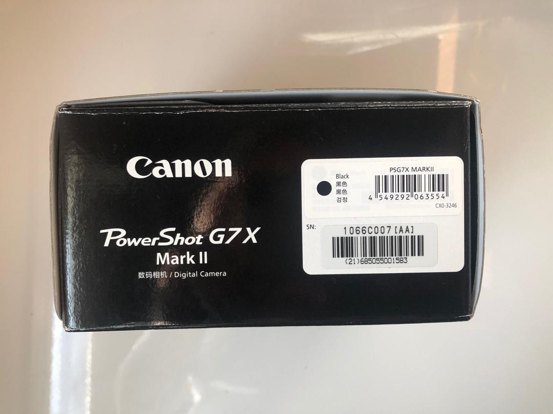 Canon G7X Mark ii -Perf Vlogging Camera