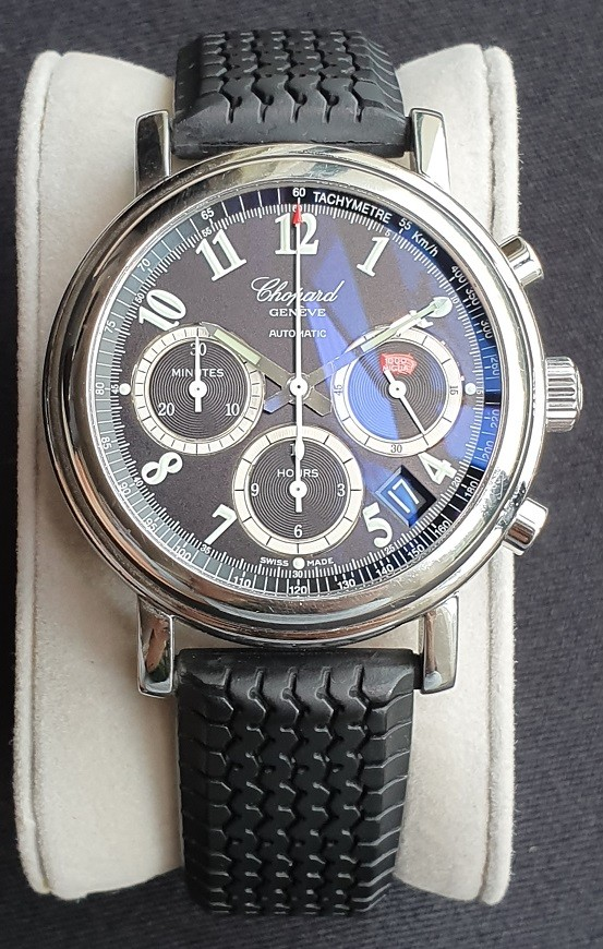 e12799f62 Chopard Mille Miglia Chronograph ref. 16/8331-99, Luxury, Watches on  Carousell