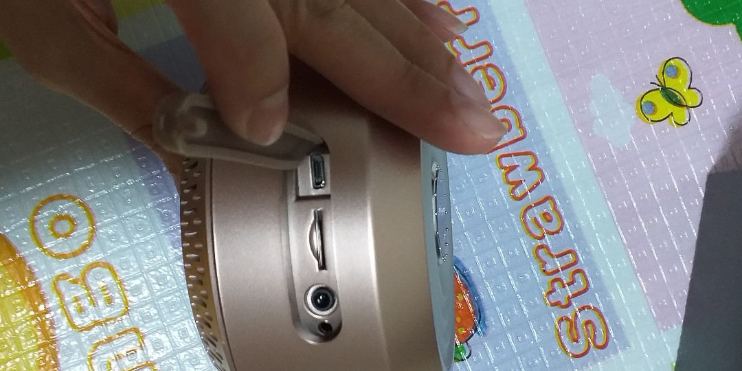 Clock & rainbow light bluetooth speaker