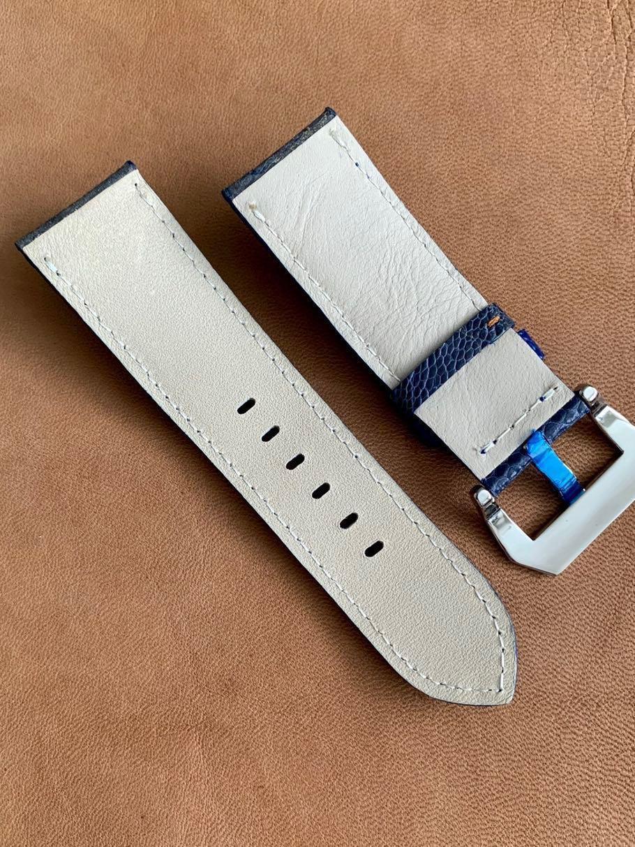 Dark Blue Ostrich Leg Watch Strap 26mm@lug/24mm@buckle #MRTHougang #MRTSerangoon #MRTSengkang #MRTPunggol #MRTRaffles #MRTBedok #MRTTampines #MRTCCK #MRTJurongEast #MRTYishun