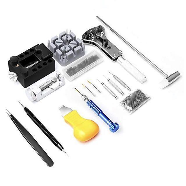 (E1579) Watch Repair Kit, Eventronic Professional Spring Bar Tool Set Watch Band Link Pin Tool Set with Carrying Case