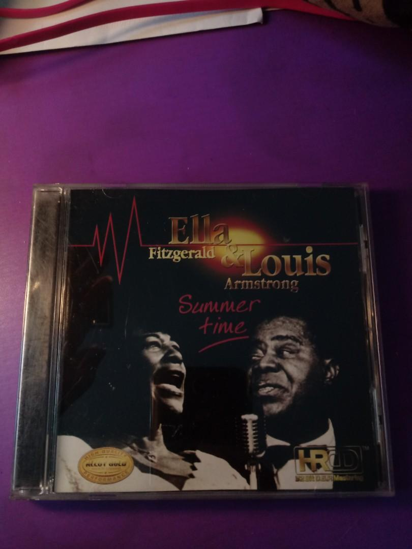 Ella Fitzgerald & Louis Armstrong. Summer Time 9成新 alloy gold