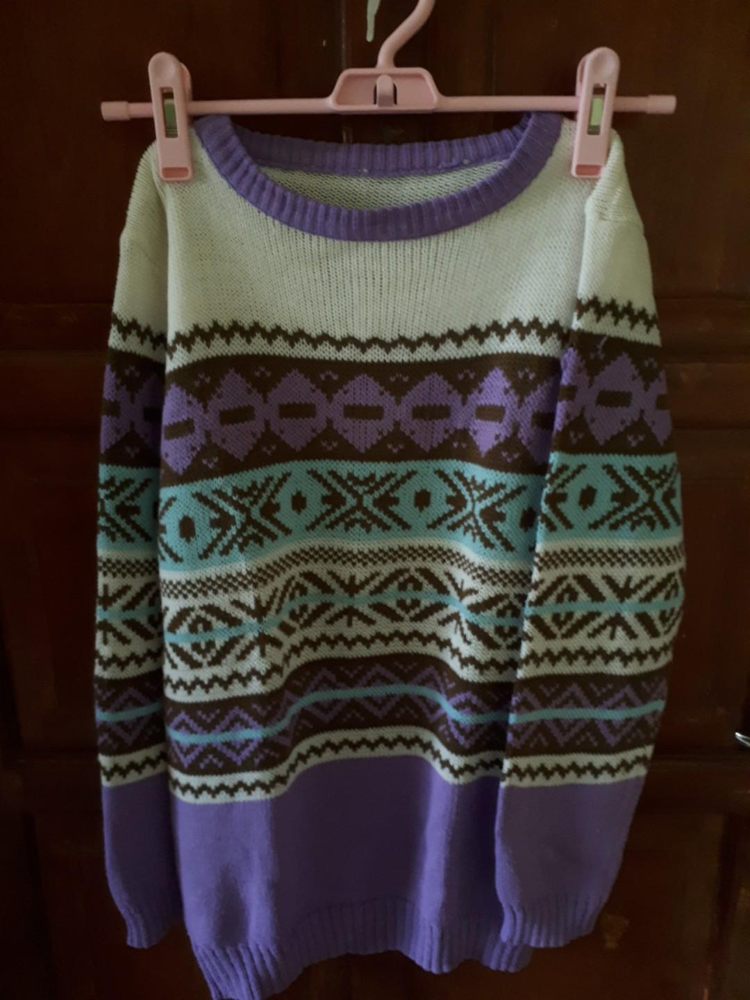 Ethnic Knitted Sweater