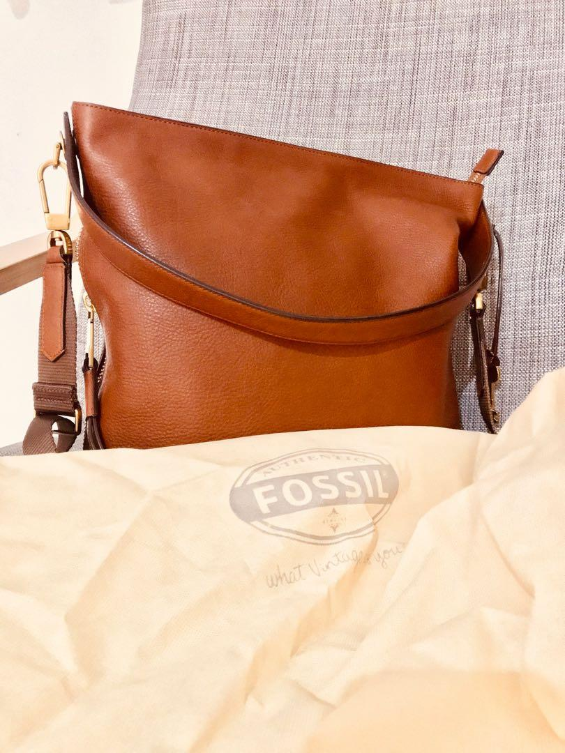 FOSSIL BAG MAYA HOBO BROWN SMALL ORIGINAL LIKE NEW