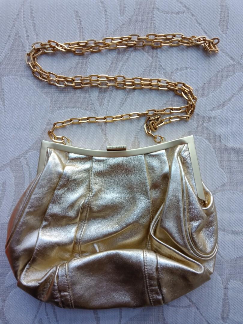Gold Ted Baker sling bag