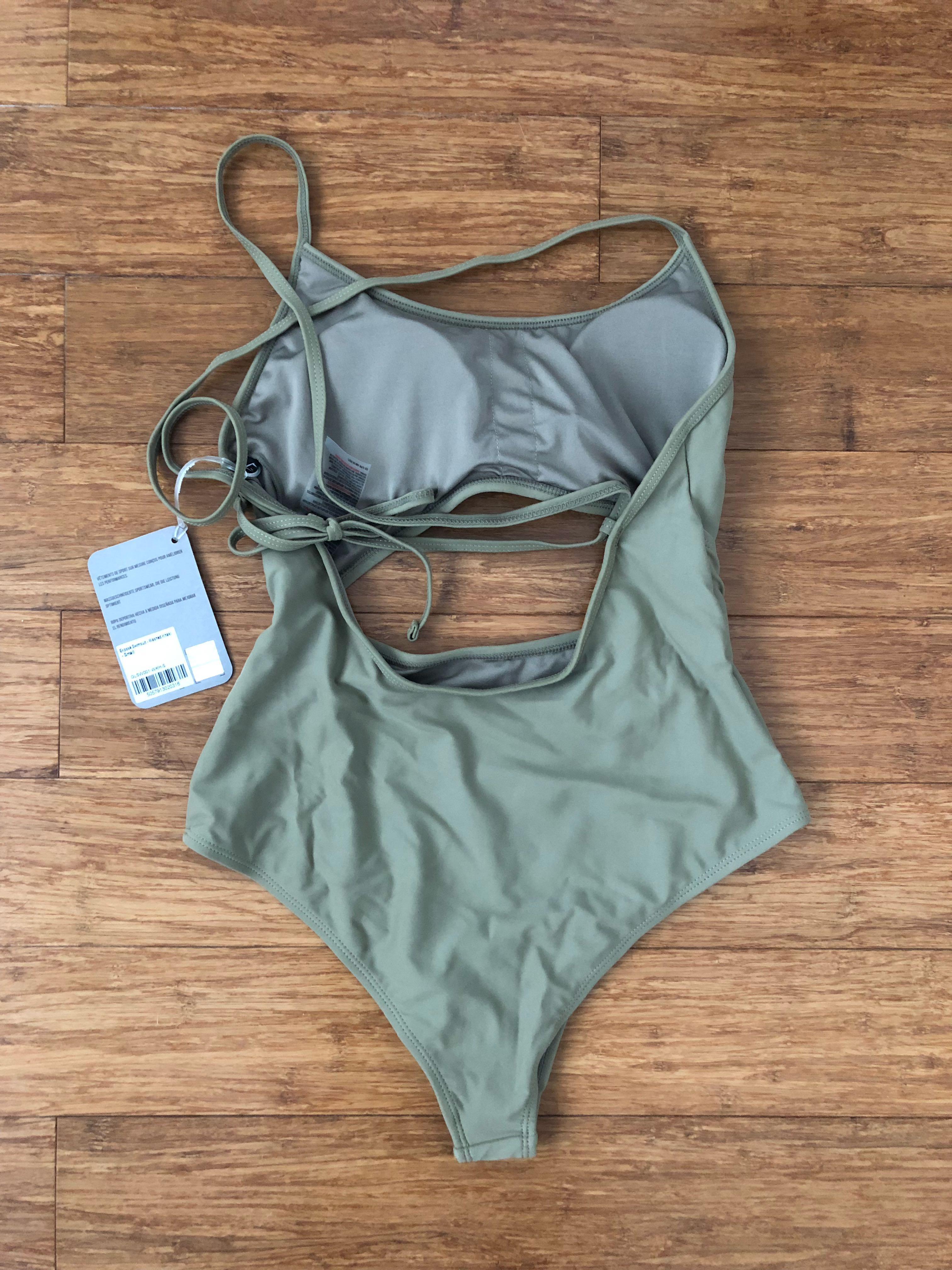 Gymshark Women's Swimsuit (washed khaki) size small