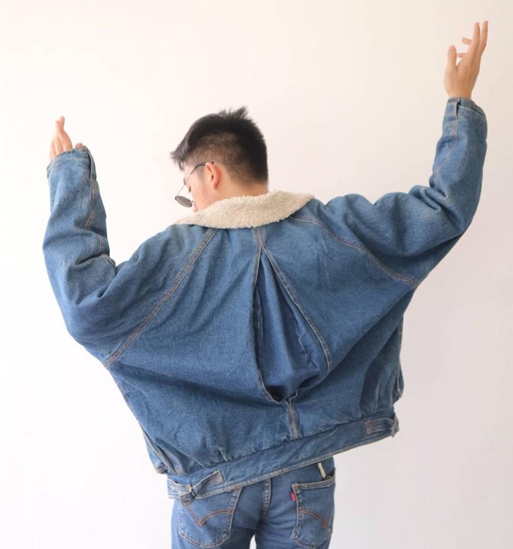 jaket jeans oversized vintage